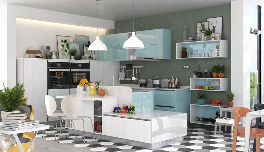 مزایای کابینت هایگلاس آشپزخانه