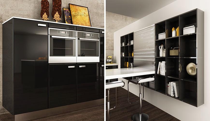 طرج کابینت هایگلاس آشپزخانه
