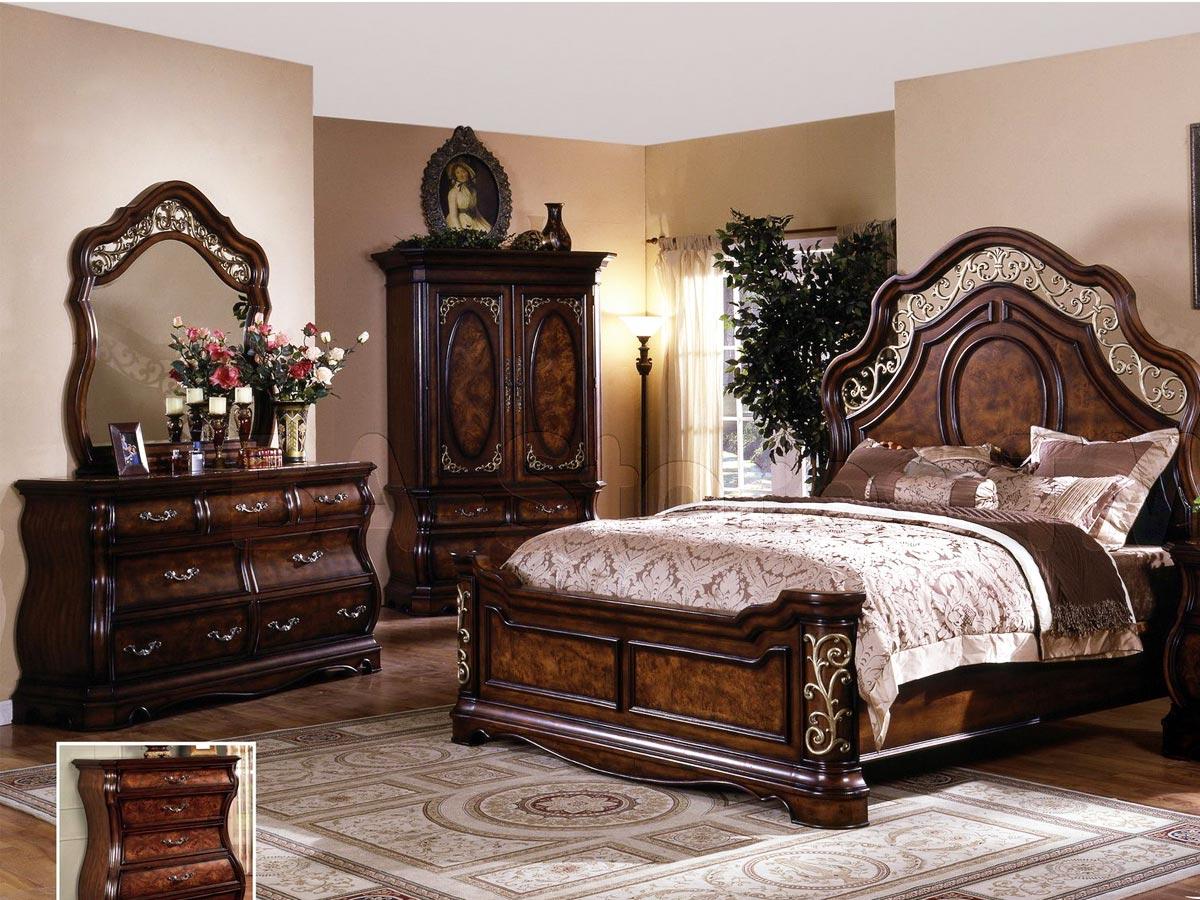 تخت خواب دو نفره ام دی اف کلاسیک