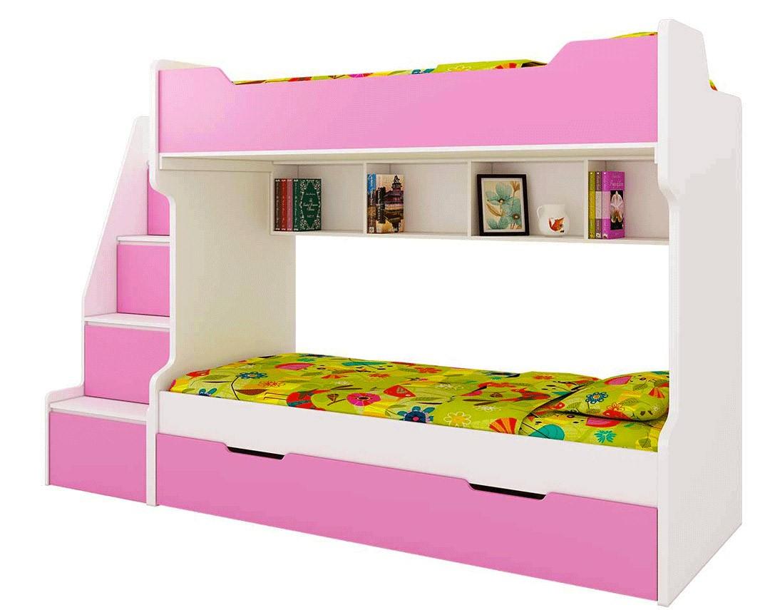 تخت خواب دو طبقه دخترانه شیک