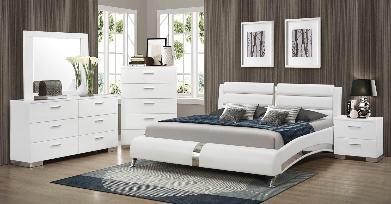 سرویس خواب سفید و مدرن
