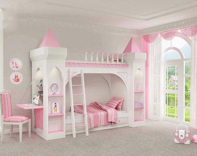 تختخواب دو طبقه دخترانه شیک