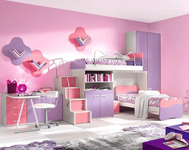 طرح تخت خواب دو طبقه دخترانه