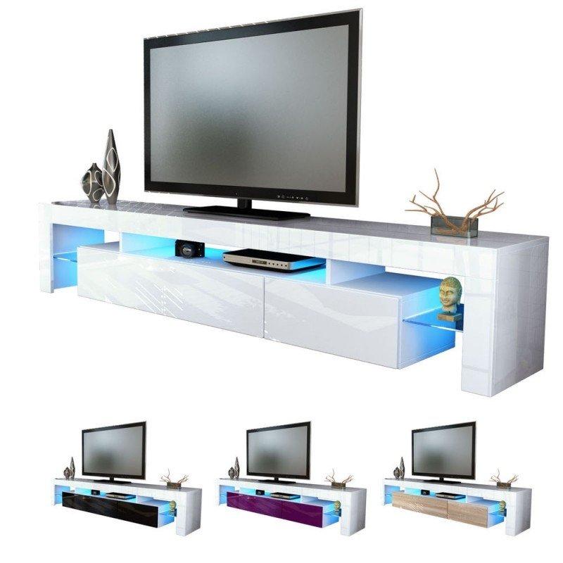 ایده میز تلویزیون مدرن سفید