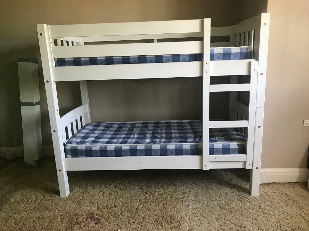 تخت خواب دو طبقه چوبی