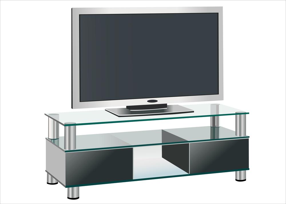 میز تلویزیون شیشه ای