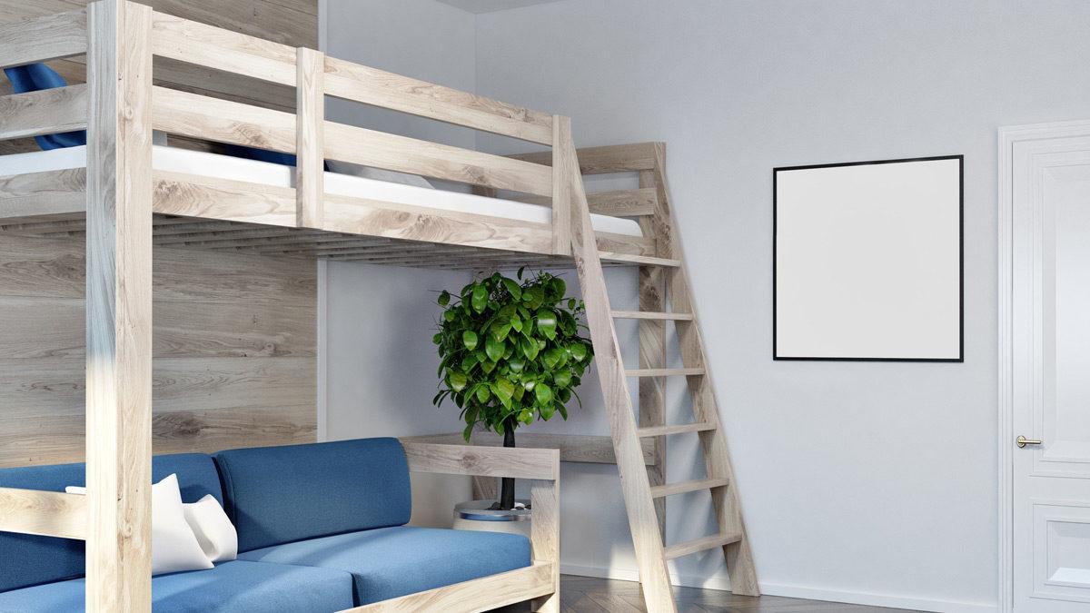 تخت خواب دو طبقه کم جا