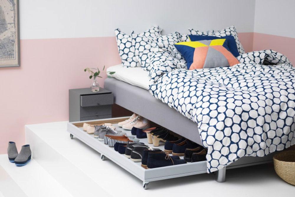 چیدمان اتاق خواب: استفاده از بخش خالی زیر تخت