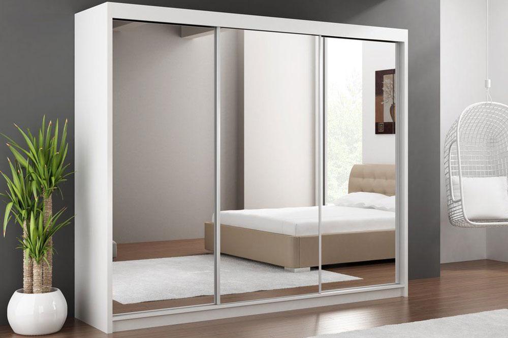 جدیدترین مدل کمد دیواری ریلی: آینه دار