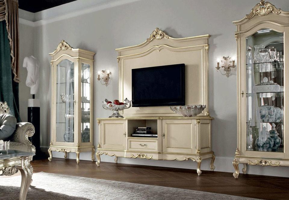 میز تلویزیون کلاسیک سفید