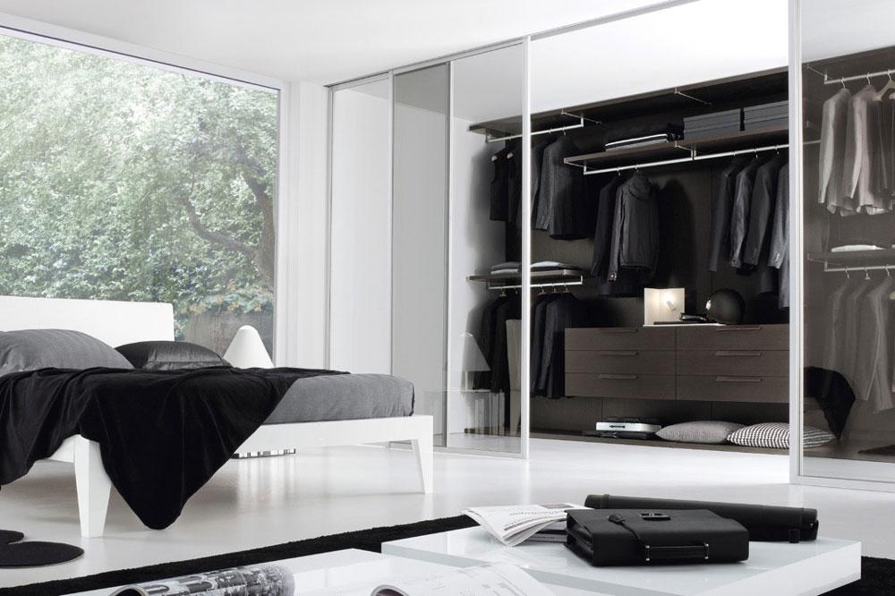 مدل کمد دیواری اتاق خواب: بدون در