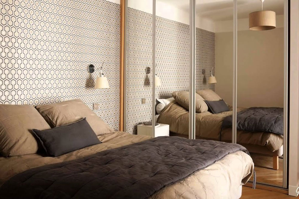 مدل کمد دیواری اتاق خواب: آینه ای
