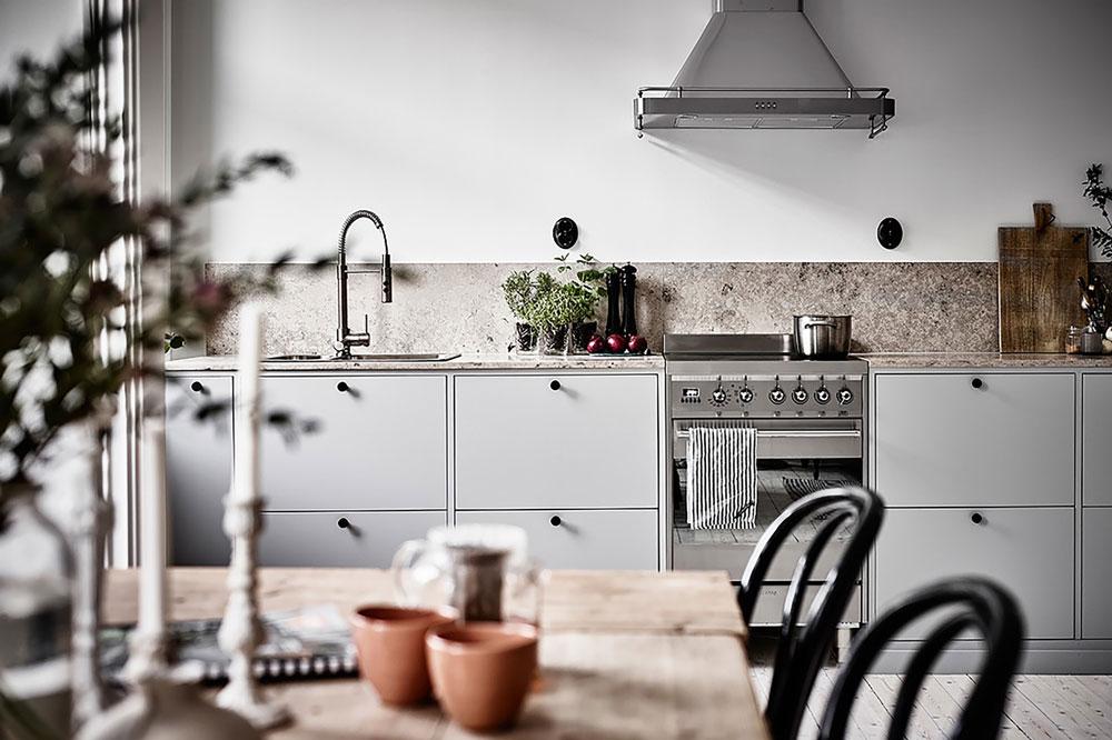 مدل کابینت برای آشپزخانه مستطیل: مدل تک دیوار