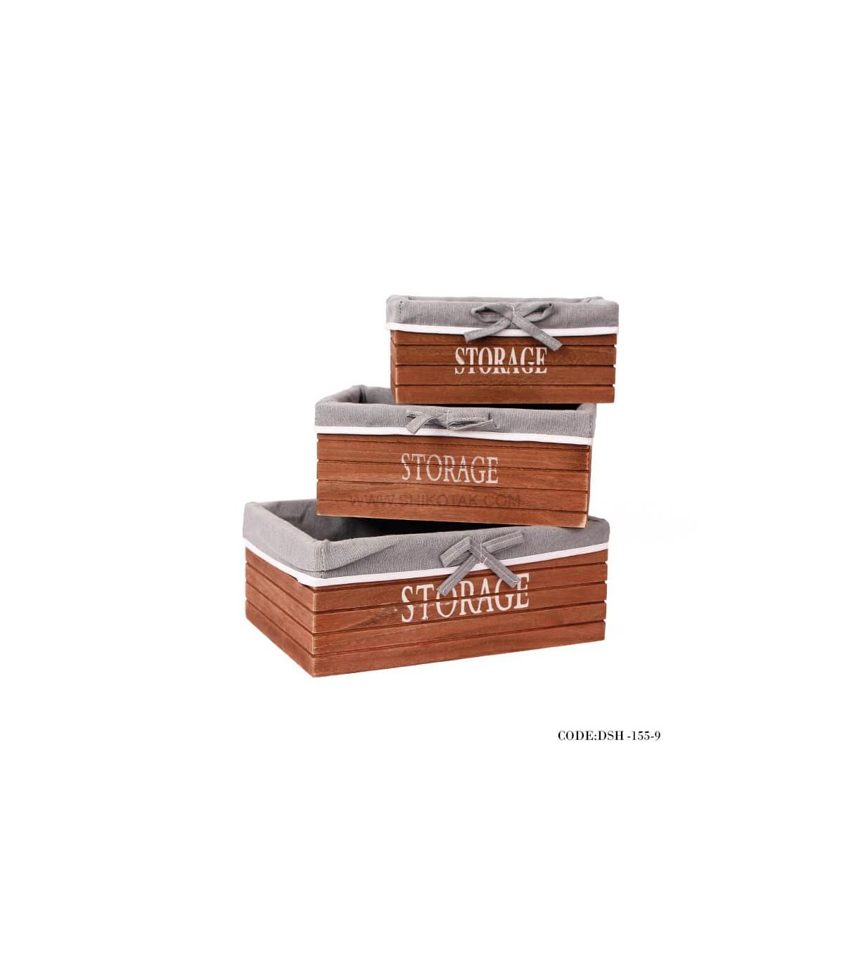 جعبه چوبی داخل کمد
