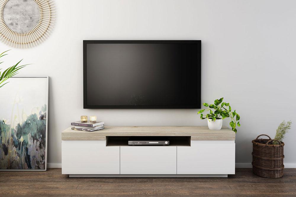 میز تلویزیون ام دی اف سفید: مدل مدرن