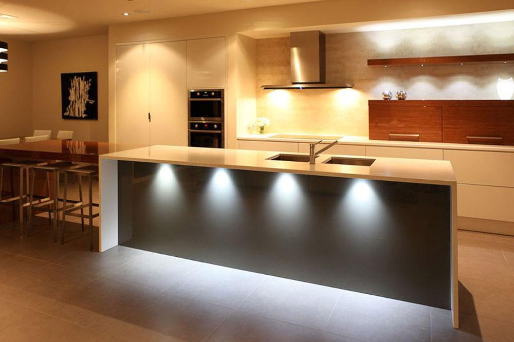 نورپردازی کابینت آشپزخانه: هالوژن
