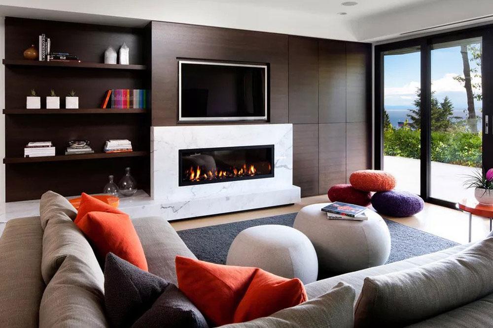 طراحی داخلی پذیرایی و نشیمن: گرم و دنج