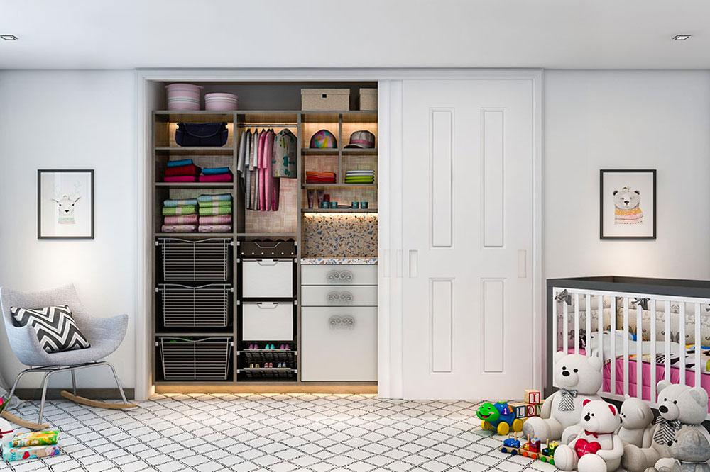 کمد بچه: ابعاد اتاق خواب کودک چقدر است؟