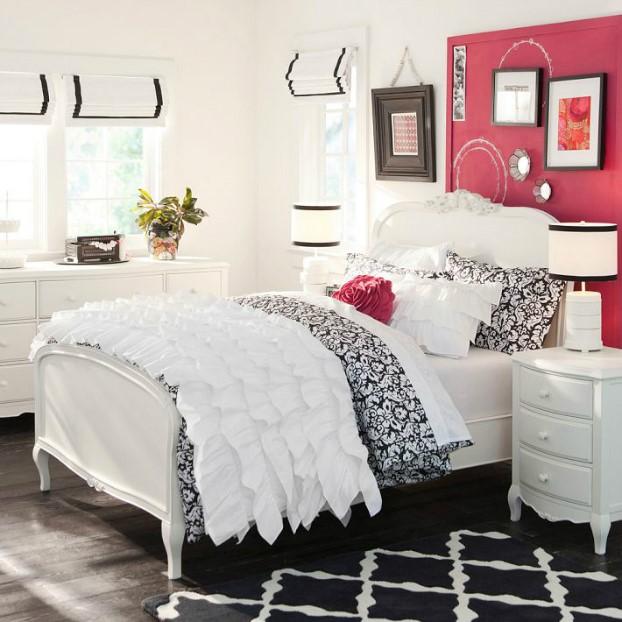 تخت خواب طرح سیاه و سفید