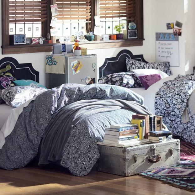 تخت خواب با اشکال هندسی زیبا