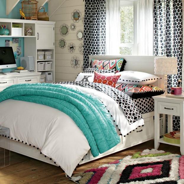 تخت خوابی با رنگ های متضاد
