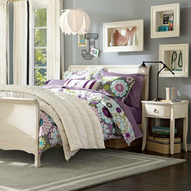 طرح تخت خواب جوان گل گلی