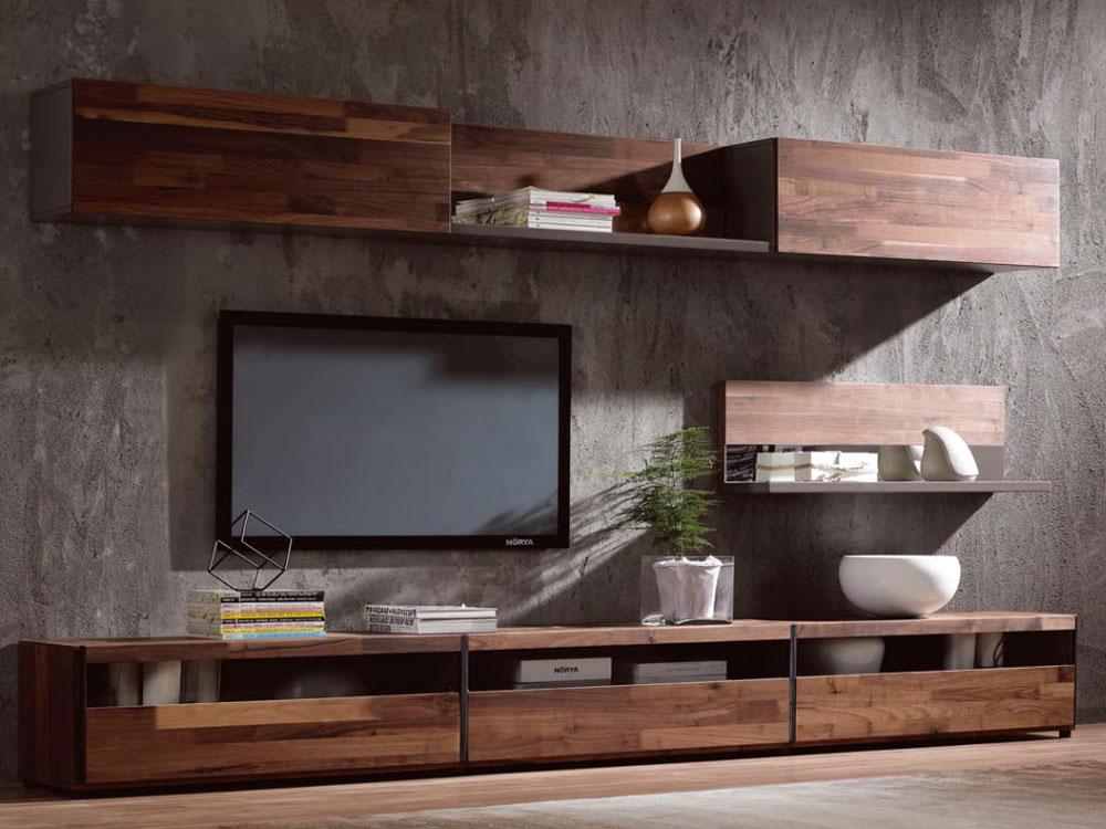 میز تلویزیون چوب گردو، زیبا و خیره کننده