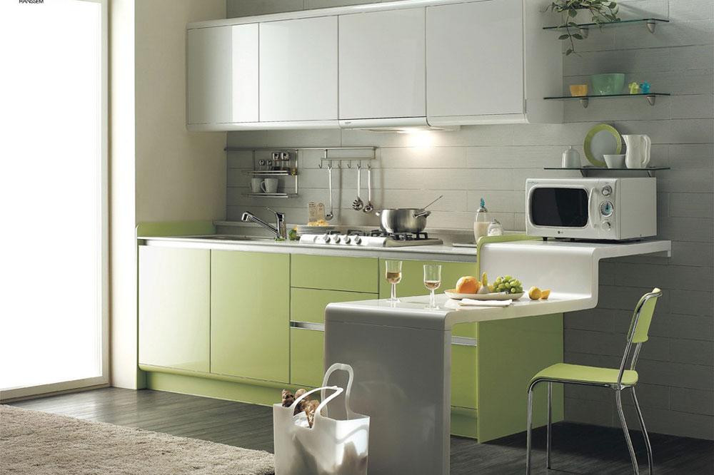 رنگ بندی های گلاس: سبز و سفید