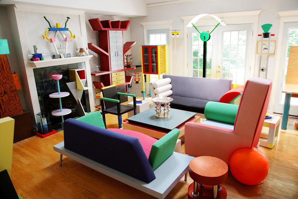 اتاق نشیمن در طراحی داخلی پست مدرن