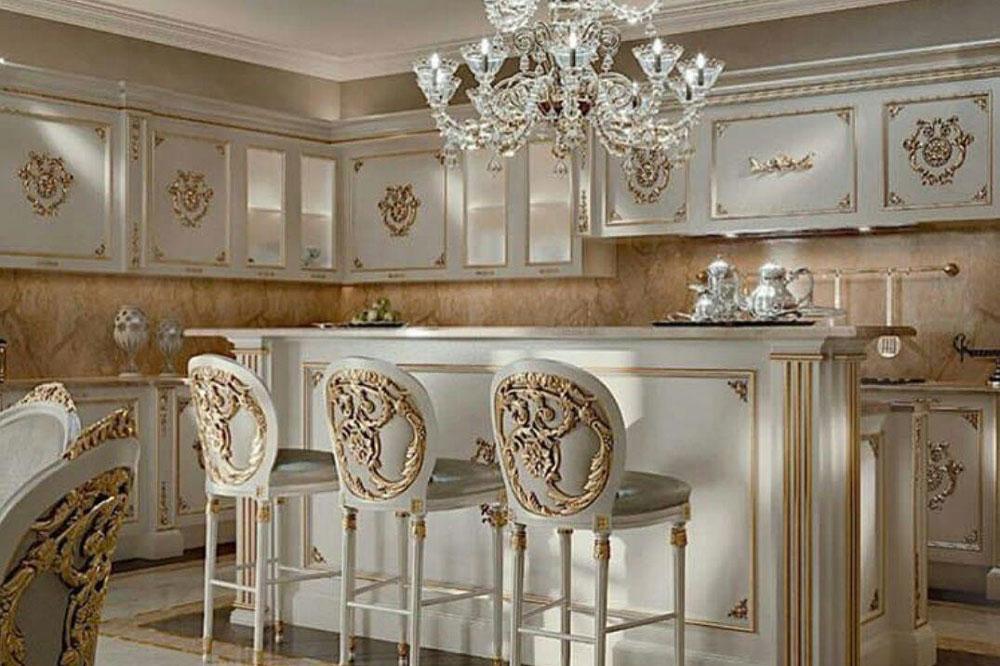 کابینت آشپزخانه سلطنتی مناسب برای آشپزخانه های بزرگ