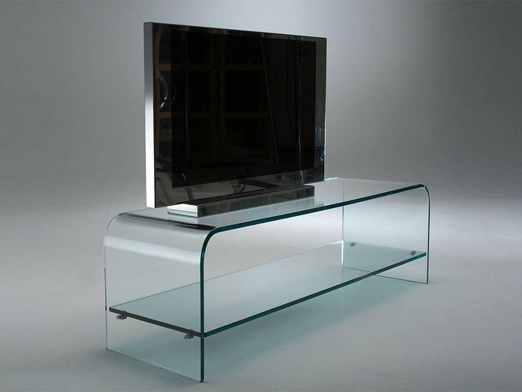 میز ال سی دی شیشه ای