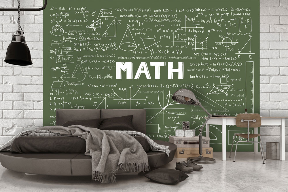 دکوراسیون اتاق خواب پسرانه : چاشنی ریاضی در اتاق خواب