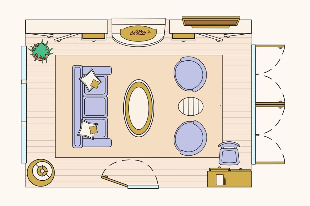 طرح چیدمان منزل