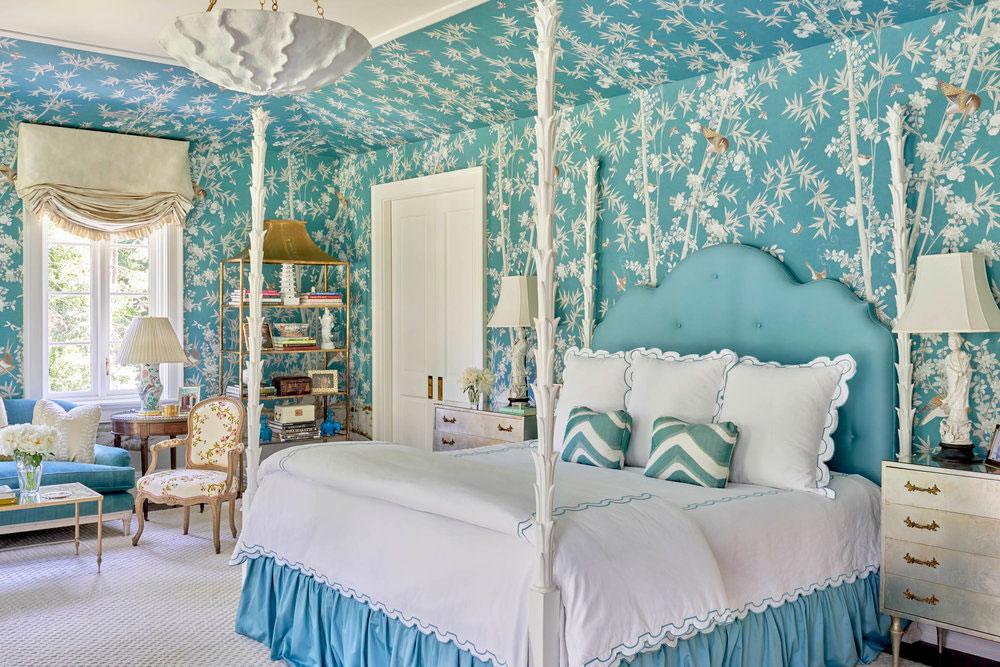 مدل اتاق خواب به سبک سنتی انگلیسی