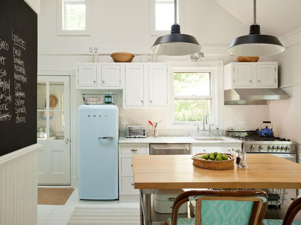 چیدمان آشپزخانه کوچک به مدل تک دیوار