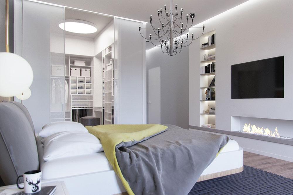 مدل اتاق خواب به سبک مدرن اسکاندیناویایی