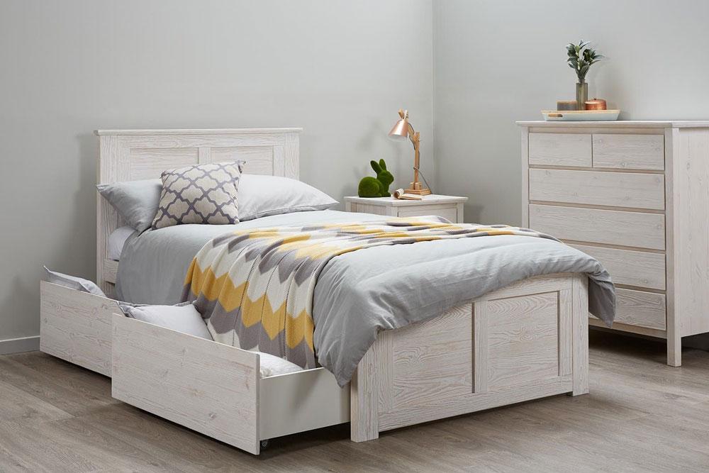 افزایش فضای ذخیره سازی با تخت خواب یک نفره دارای فضای داخلی