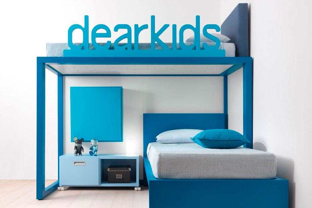 تخت کودک و نوجوان پسرانه آبی رنگ