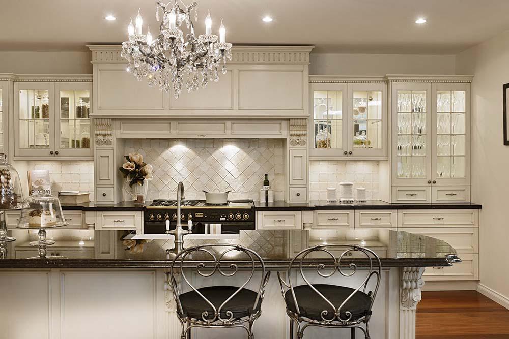 مدل کابینت آشپزخانه با سبک کلاسیک