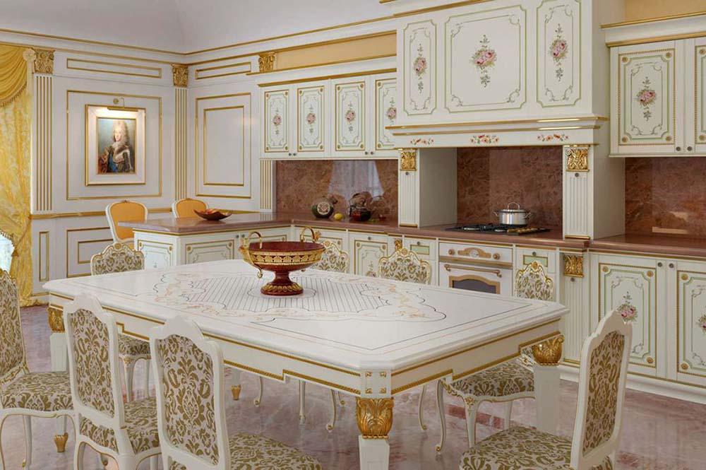 مدل کابینت آشپزخانه با سبک سلطنتی