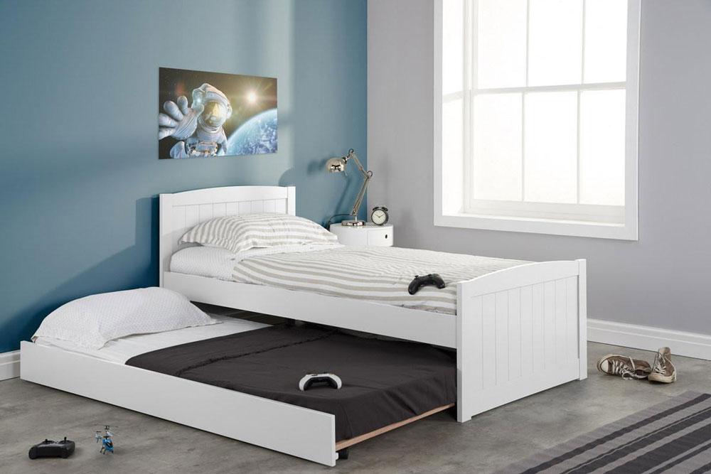 تخت خواب یک نفره به همراه تخت جانبی