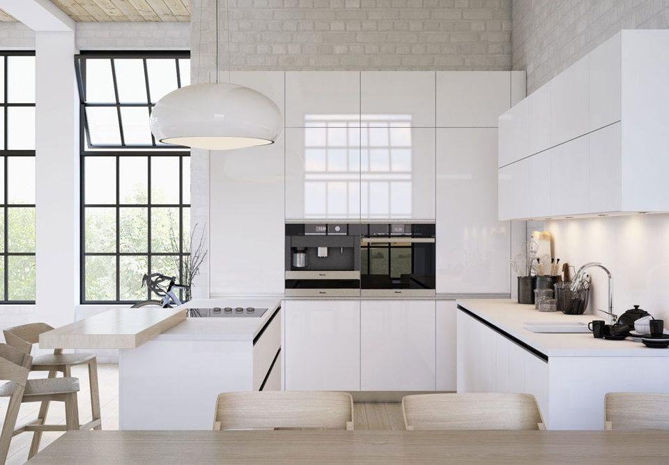 کابینت های گلاس سفید: درخشندگی و زیبایی در آشپزخانه