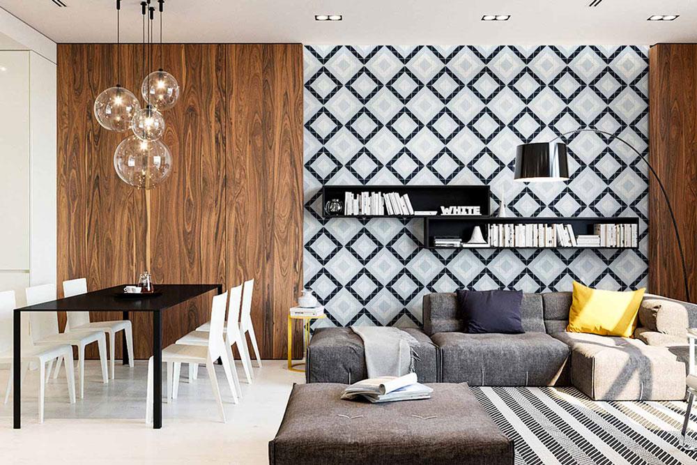 دکوراسیون داخلی منزل : طراحی با الگوهای هندسی
