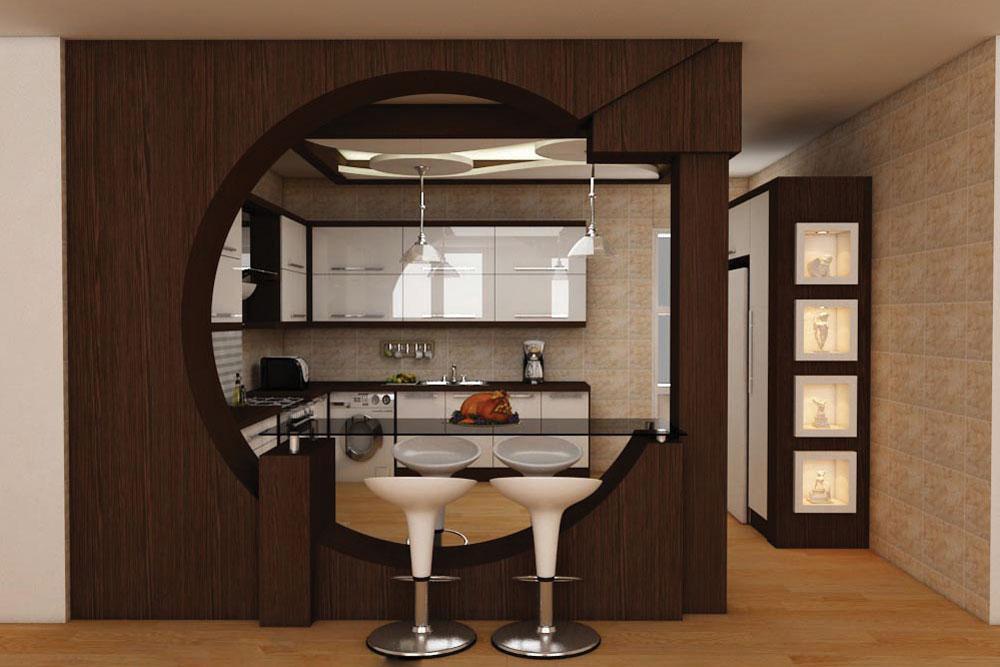 مدل اپن آشپزخانه یا پارتیشن جدا کننده جذاب!