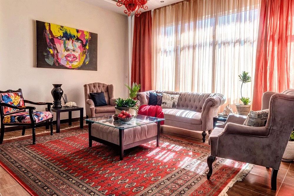 نقش رنگ قرمز در دکوراسیون خانه های ایرانی