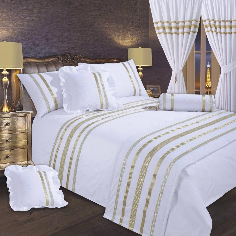 طرح سرویس خواب سفید طلایی