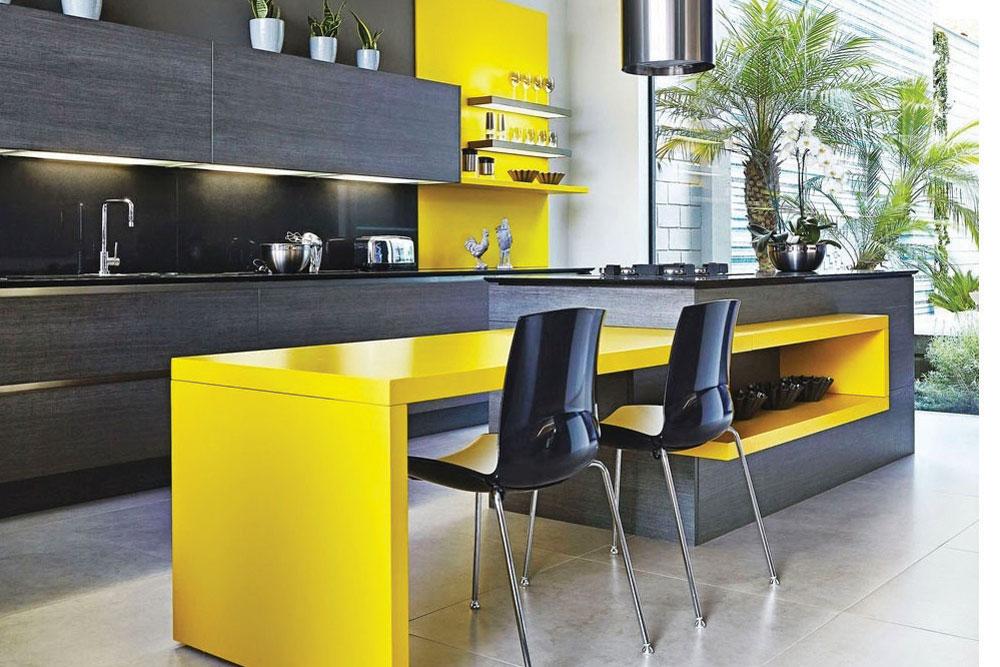 مدل اپن آشپزخانه با ترکیب رنگی زیبا!