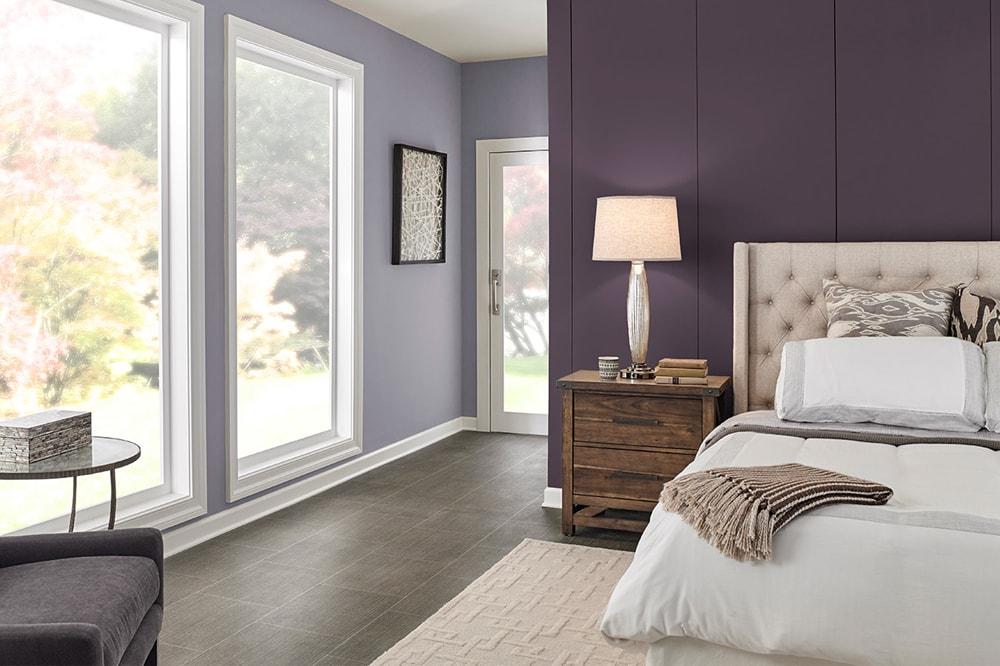 بنفش کمرنگ برای رنگ اتاق خواب بزرگسال