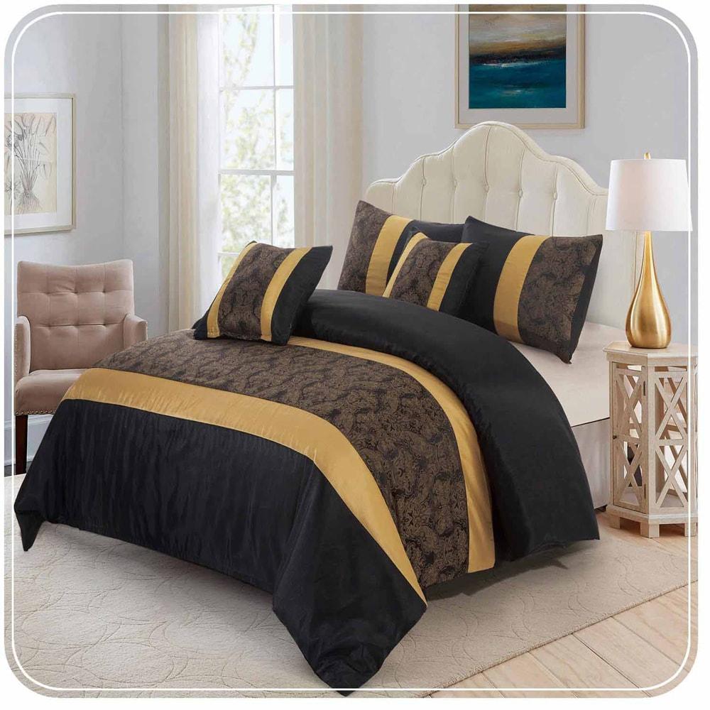ایده سرویس خواب سفید طلایی
