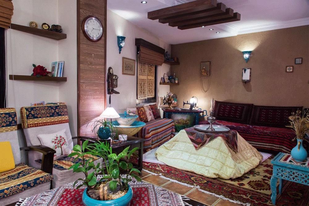 زمستان و دکوراسیون خانه های ایرانی